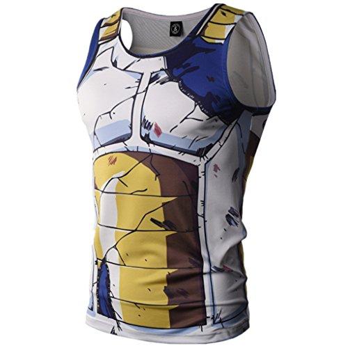 (Men's Compression Tank Top Muscle T-Shirt 3D Cartoon Gym Sleeveless Vest)