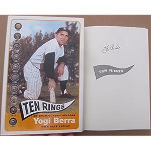 Yogi Berra Signed book Ten Rings My Championship Seasons Yankees 1st Printing