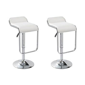 vidaXL 2 DESIGN Barhocker Bar Stuhl LOUNGE Hocker Drehstuhl Küche Barstühle  Weiß