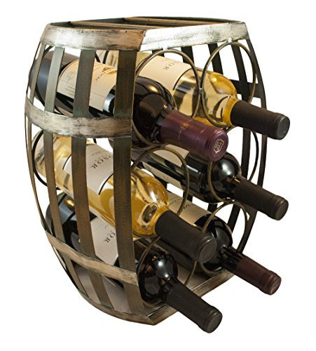 TheopWine-Barrel-Shaped-6-Bottle-Wine-Rack
