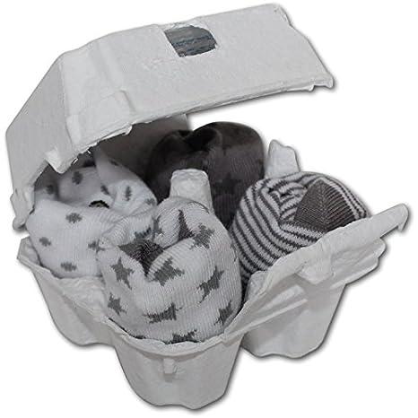 Caja de huevos 4 pares de calcetines grises y blancas BB & Co