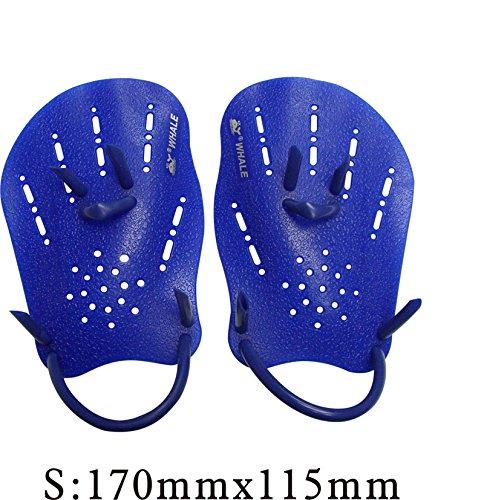 Swimming Paddle Silicone Hand Swimming Training Web Glove M - 8