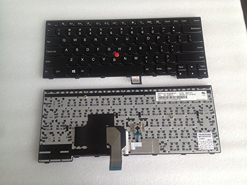 Genuine Original US Layout Laptop Keyboard with Trackpoint For Lenovo Thinkpad E450 E450C E455 E460 E465 W450 Compatible 04X6101 04X6181 MP-13U53US-G62 NSK-Z40ST 9Z.NBJST.001 PK130TR3A00 SN20E66181 ()