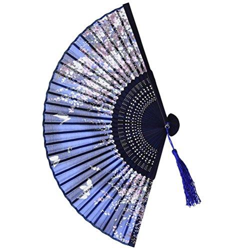Lace Flower 14 Ribs Handheld Folding Fan Craft Wedding Party Dancing Prop Pretty