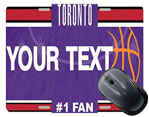 BRGiftShop Personalize Your Own Basketball Team Toronto License Plate Square Mouse Pad ()