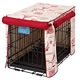 Crate Covers and More Double Door 30 Pet Crate Cover, Parisian Red with Simply Red Twill