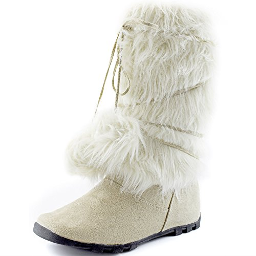 Fur Mukluks (Women's DailyShoes Warmer-01 Mukluk Boots Faux Fur, 9)