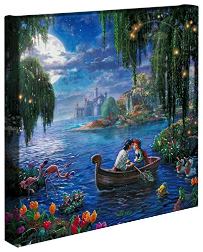 "Thomas Kinkade Gallery Wrap The Little Mermaid II (Disney Dreams IX) 14"" X 14"" Wrapped Lithograph Artwork On Canvas"
