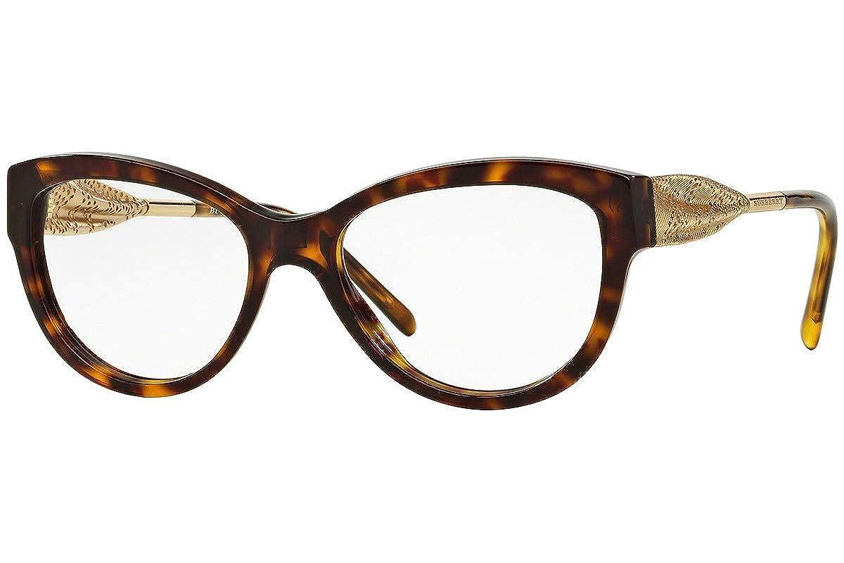 0653018fbc Burberry Women s BE2210F Eyeglasses Dark Havana 53mm at Amazon Men s  Clothing store