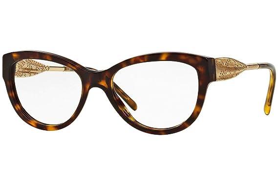 7ba9f3b41e05 Burberry Women's BE2210F Eyeglasses Dark Havana 53mm at Amazon Men's ...