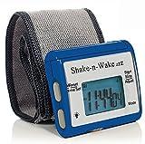 Silent Vibrating Personal Alarm Clock ''Shake-N-Wake'' (Blue)