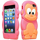 BasTexWireless Bastex 3d Character Silicone Case for Apple Iphone 5c - Hot Pink & Tan Monkey