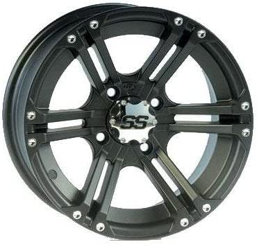 ITP SS ALLOY SS212 Matte Black Wheel with Machined Finish 14x8//4x115mm