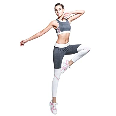 bee97e8a2ee5b BothMeetYuan Women s 2 Pieces Active Workout Sets Yoga Running Fitness Bra  and Leggings Pants Tracksuit Outfit