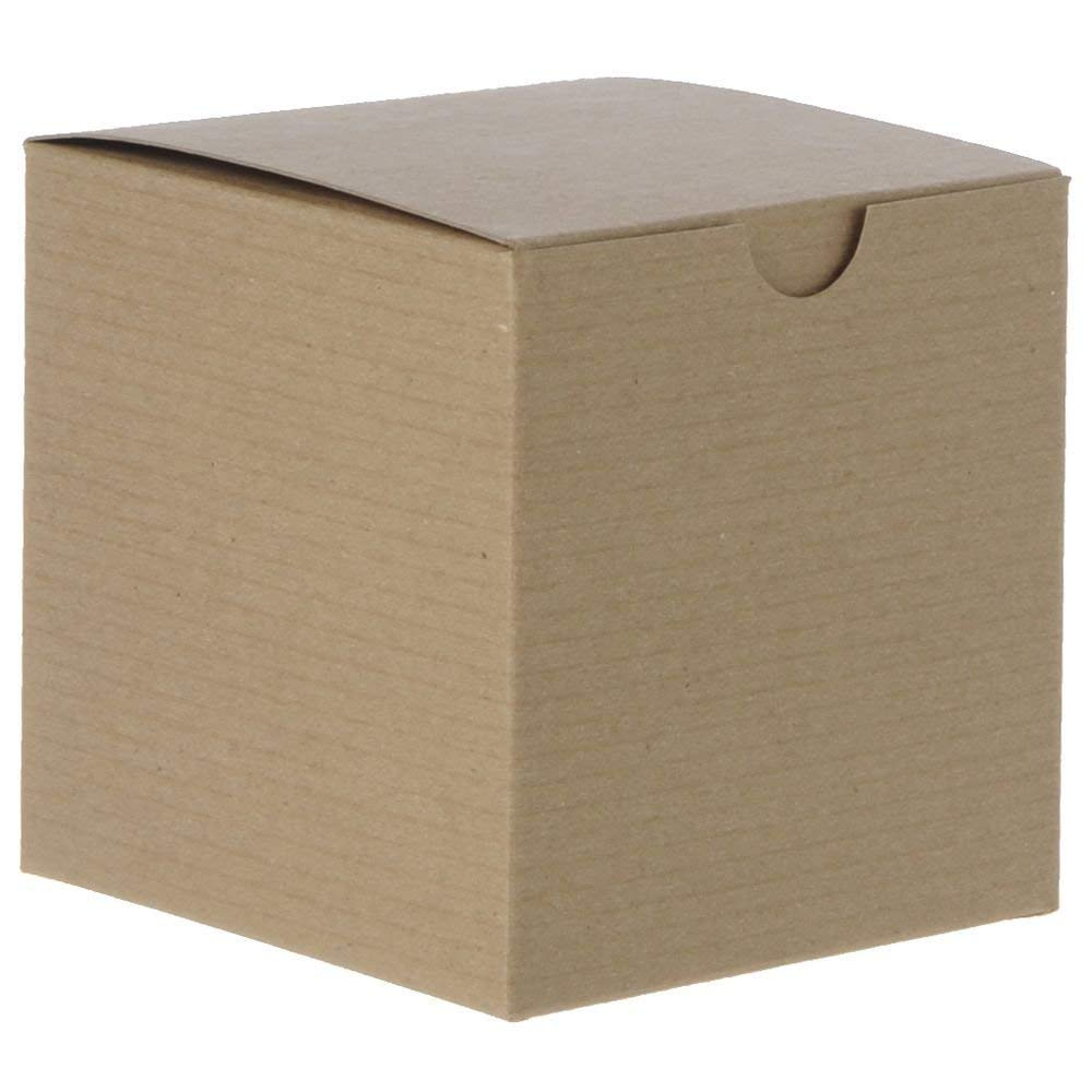 Natural Kraft Gift Boxes 6 x 6 x 6 Case of 100