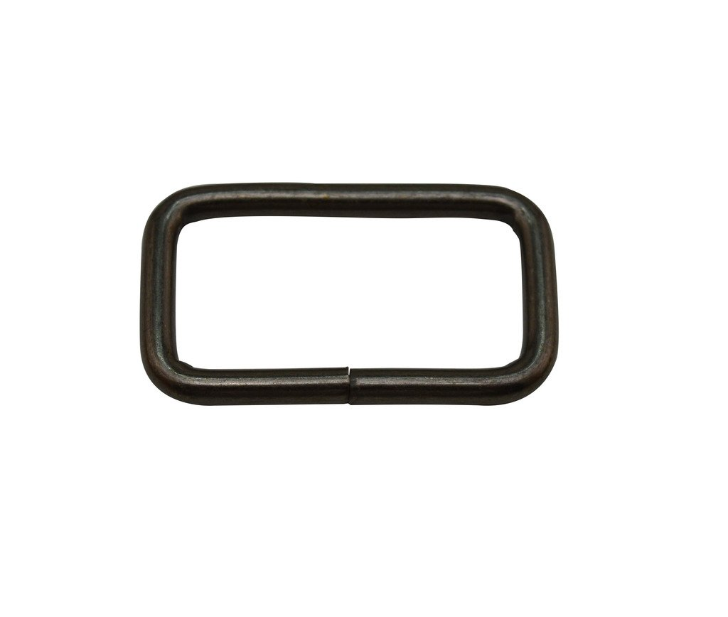 Tianbang Gun Black 1.5X0.8 Inner Dimension Non Welded Rectangle Buckle for Strap Pack of 10