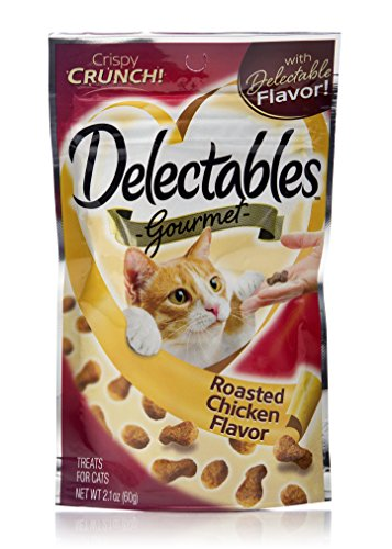 Delectables Gourmet Crunchy Cat Treats 2.1Oz - Roasted Chicken