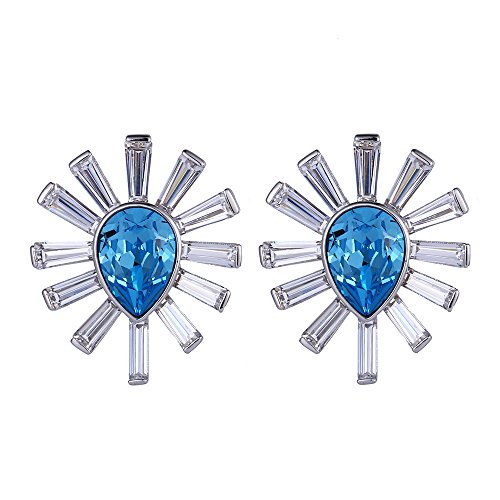 Costumes Dubai Marina (Xuping Halloween Gifts Charm Crystals from Swarovski Women Girl Stud Earrings Jewelry with Box Wedding Party (Aquamarine))