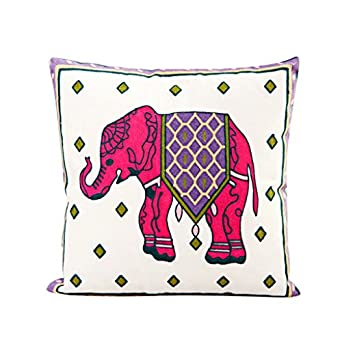 Pink Elephant Throw Pillow : Amazon.com: Pink Elephant Cotton Throw Pillow Case Cushion Cover Sofa Home Bed Decor by Generic ...