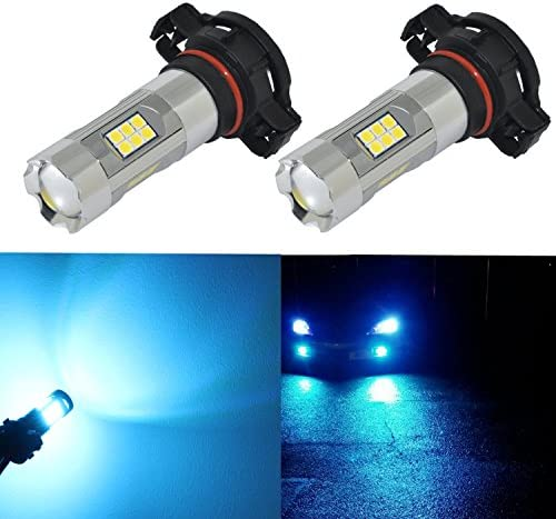 Alla Lighting 3200ルーメン 最新バージョン 5201 5202 LED フォグライト電球 ハイパワー 3030 27-SMD 超高輝度 LED 5201 電球 PS19W 5201 5202 LED電球フォグライト 8000K アイスブルー (2個セット)