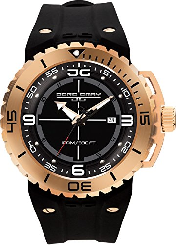Jorg Gray Men's JG8700-12 Analog Display Quartz Black Watch by Jorg Gray