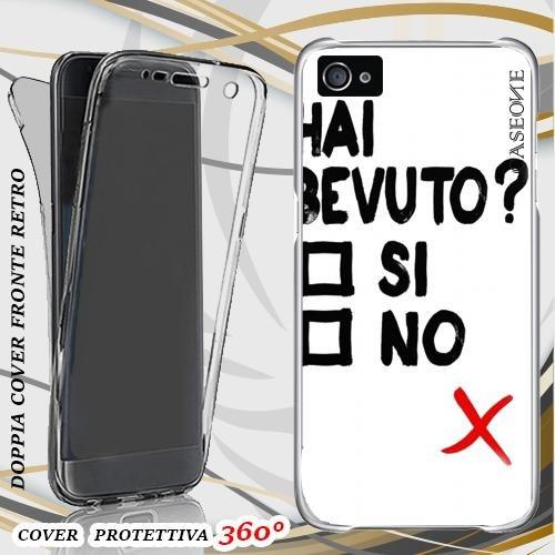 CUSTODIA COVER CASE BEVUTO PER IPHONE 4 FRONT BACK
