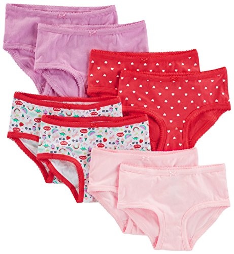 Contrast Trim Briefs - Simple Joys by Carter's Baby Girls' Toddler 8-Pack Underwear, Pink, 2-3