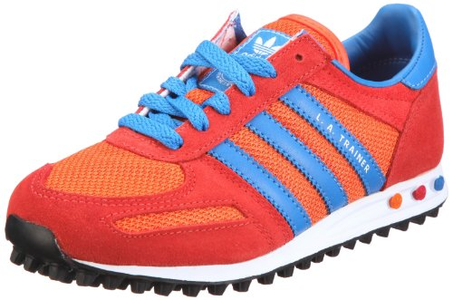 adidas Originals Boys' LA Trainer J Gymnastics Shoes Red - Rot/Light Scarlet / Bluebird / White