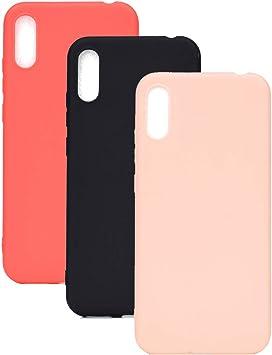3 Couleurs Coque pour Huawei Y6 Pro 2019, Yunbaozi Protective Case Housse Caoutchouc Étui en Silicone Protecteur Gelée Bonbons Flexible Svelte Coque ...