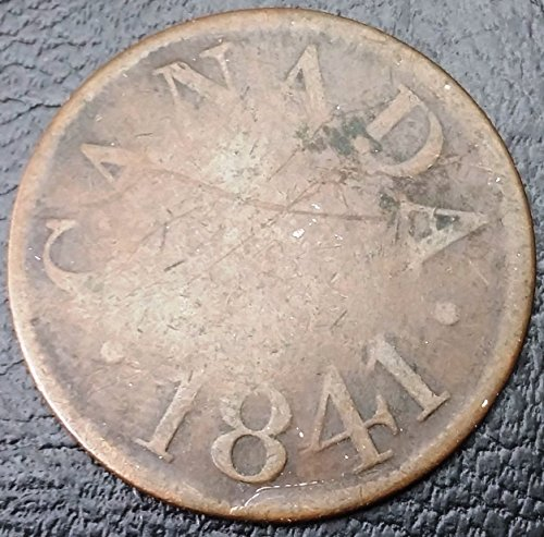 Unbranded 1841 LOWER CANADA HALF PENNY COLONIAL TOKEN BR532 LC 13B