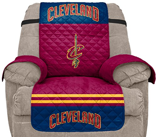 Pegasus Sports NBA Cleveland Cavaliers Unisex Nbanba Furniture Protector with Elastic Straps, Wine, Recliner by Pegasus Sports