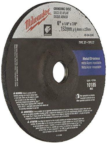 (MILWAUKEE ELECTRIC TOOL 49-94-6340 Type 27 Grinding Wheel 6