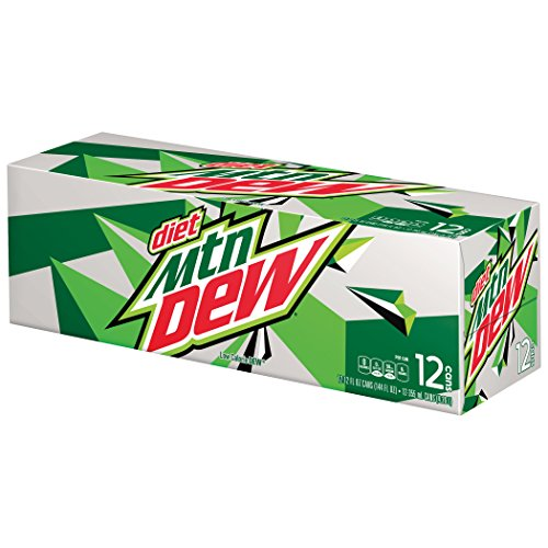 Mountain Dew Diet Soda  12 Ounce  12 Cans