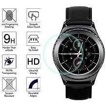 Samsung Galaxy Gear S2 Screen protector, KuGi Ultra-thin 9H Hardness High Quality HD clear Premium Tempered Glass Screen Protector for Samsung Galaxy Gear S2 smartphone (1 pcs)