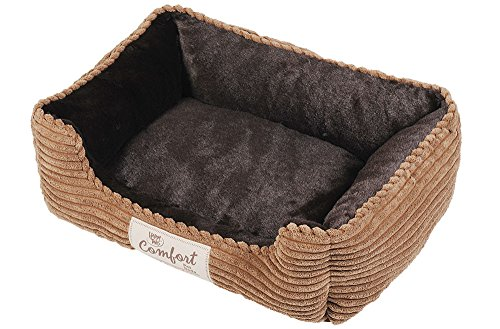 Happy Tails Corduroy Cuddler Bed for Pets, 21 by 17-Inch, Chocolate Brown Review