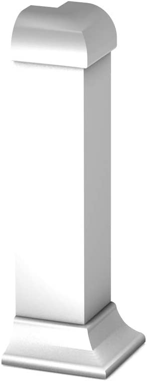 Prinz Aussenecken f/ür Sockelleiste mit Einschub 379 Silber