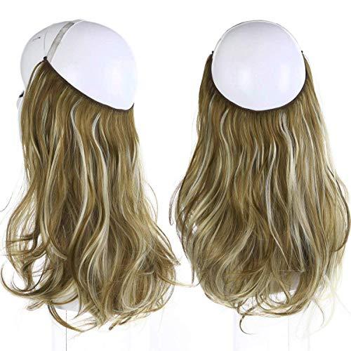 SARLA 14' Wavy 4.3oz Synthetic Wavy Halo Hair...