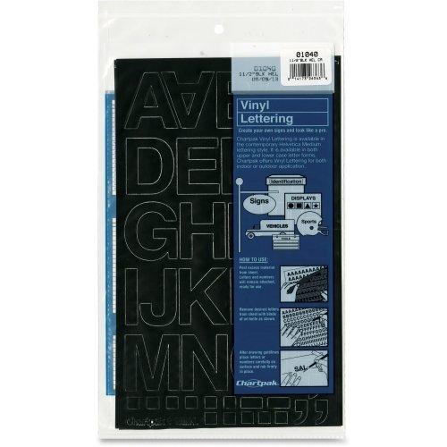 Chartpak Letters Vinyl (Chartpak Vinyl Helvetica Style Letters/Numbers - Number, Letter, Symbols - 1.5