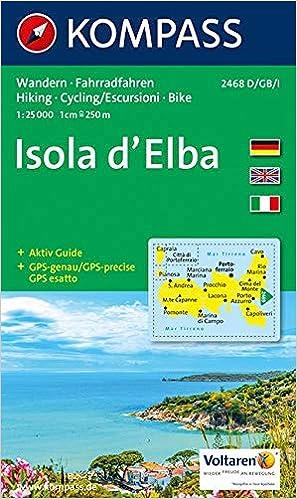Procchio Elba Karte.Amazon It Carta Escursionistica N 2468 Isola D Elba 1