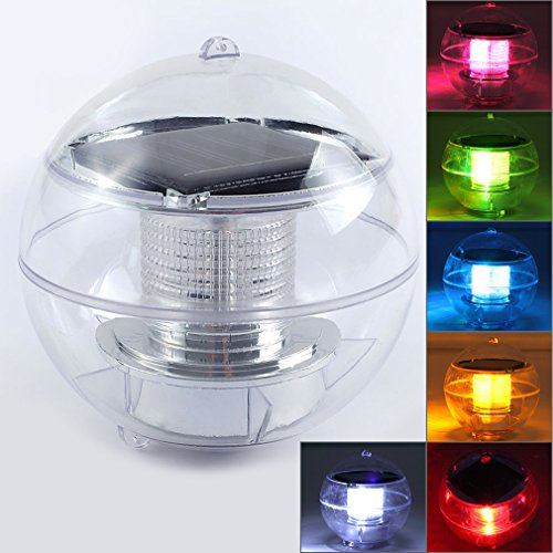 PNBB Solar Floating LED Pool Light LED Night Light Lamp ball for ...