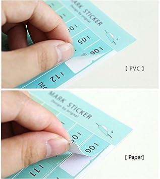 Amazon.com: Chris.W 8 hojas autoadhesivas Mini DIY papel/PVC ...