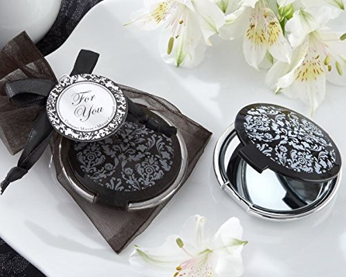 Reflections Elegant Black-and-White Mirror Compact (Set of 48)