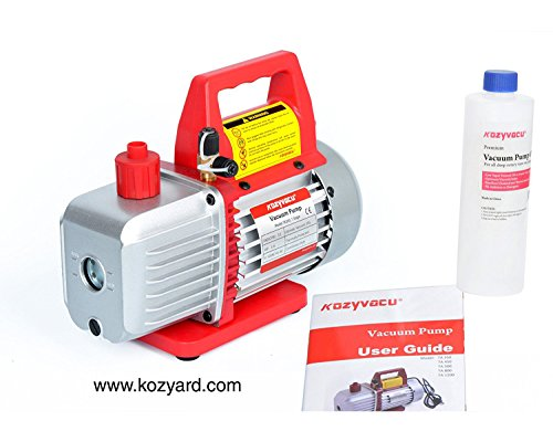 Kozyvacu 3.5CFM 1-Stage Rotary Vane Vacuum Pump (3.5CFM, 150Micron, 1/4HP) for HVAC/Auto AC Refrigerant Recharging, Degassing wine or epoxy, Milking cow or lamb, Medical, Food Processing etc. by Kozyvacu (Image #3)