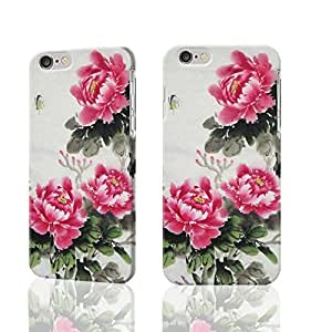 "Butterfly and Bloosom Peony 3D Rough iphone Plus 6 -5.5 inches Case Skin, fashion design image custom iPhone 6 Plus - 5.5 inches , durable iphone 6 hard 3D case cover for iphone 6 (5.5""), Case New Design By Codystore"