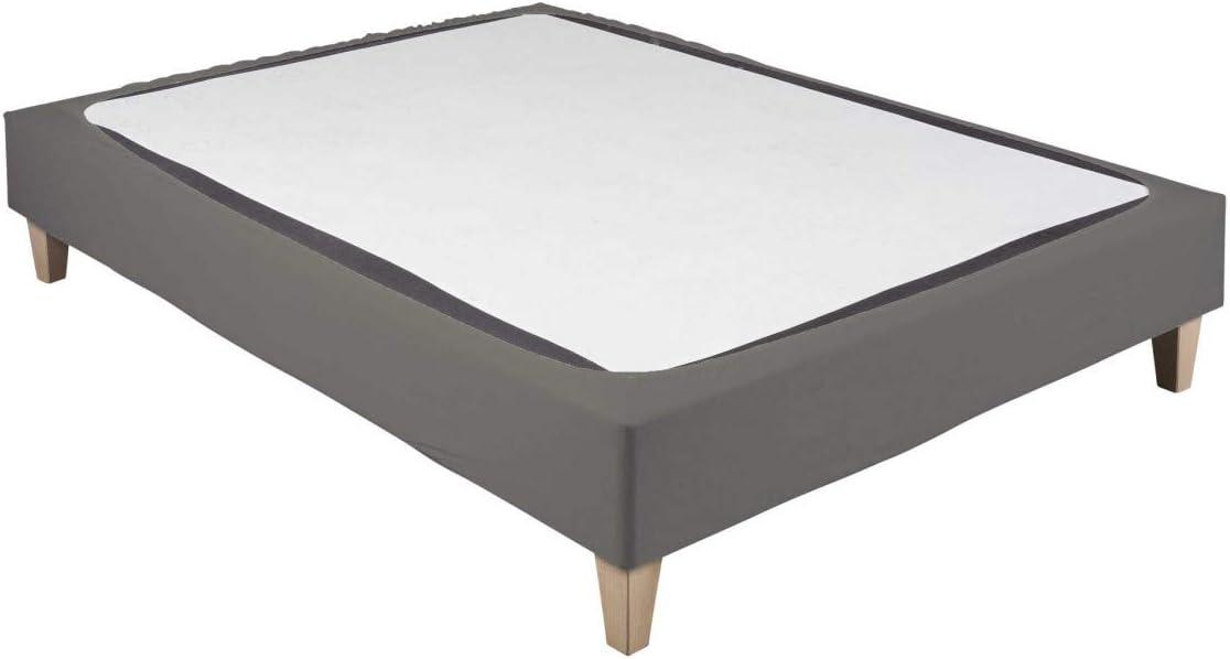 Cache-sommier Coton Jersey Taupe 70x190 /à 80x200