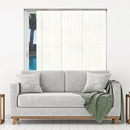 Chicology Adjustable Sliding Panel, Beach - Natural Woven, Privacy, 80