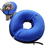 Yinrunx Inflatable Pet Collars Small Medium Large Dog Zipper Plush PVC Adjustable Anti-bite Wound Healing Protective Neck Ring Supplies
