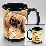 Dog Breeds (L-Z) Pekingese 15-oz Coffee Mug Bundle with Non-Negotiable K-Nine Cash by Imprints Plus (123)