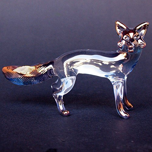 Fox Figurine of Hand Blown Glass