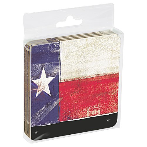 Themed Coaster (Tree-Free Greetings ECO Coasters Box Set of 4 Drink Coasters, 3.5 x 3.5 Inch, Texas Flag  (EC96284))